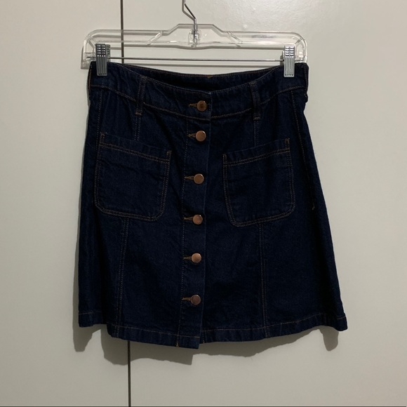 Divided Dresses & Skirts - H&M Divided Denim Button Up Skirt